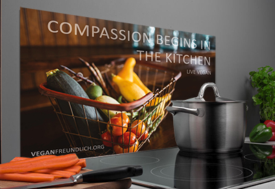 Herd Spritzschutz Compassion begins in the Kitchen
